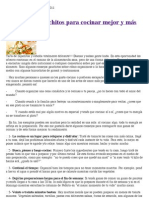 10 consejos gauchitos para cocinar mejor y más sano|Espiritualidad Diaria