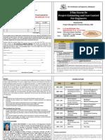 IEM Course Brochure - Cost Control