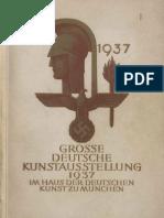 Grosse Deutsche Kunstausstellung 1937 - Offizieller Ausstellungskatalog (261 S., Scan, Fraktur)