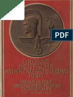 Grosse Deutsche Kunstausstellung 1940 - Offizieller Ausstellungskatalog (237 S., Scan, Fraktur)