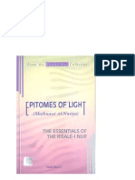 EPITOMES OF LIGHT (MATHNAWIAL-NURIYA) THE ESSENTIALS OF THE RISALE-I NUR Mesnevi Nuriye Ingilizce