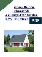 Heinz von Heiden schnürt 50 Aktionspakete