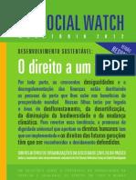Social Watch Relatório 2012 - O direito a um futuro