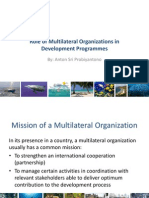 Role of Multilateral Org in Development Programmes