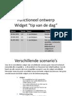 Functioneel Ontwerp Widget Tip Van de Dag v1.2