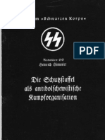 Himmler, Heinrich - Die Schutzstaffel Als Antibolschewistische Kampforganisation (1937, 33 S., Scan, Fraktur)