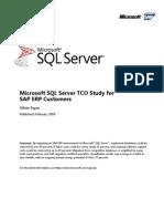 Microsoft TCO Study for SAP ERP-Jan09