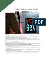 Datos Historicos y Curiosos Sobre El Sexo 2012
