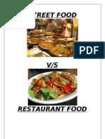 Street Food vs Restaurant Survey Report1