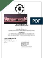 Final Report on Cdsl