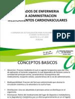 Administracion de Medicamentos Cardiovasculares Diapositivas