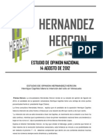 Estudio Nacional Hercon Agosto 2012