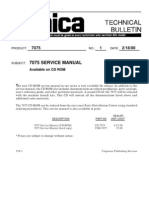 Technical Bulletin Konica 7075