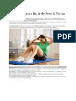 Ejercicios Para Bajar de Peso La Panza 2012