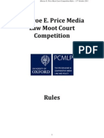 Price Moot Rules