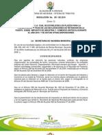 Resolucion 001 2010 Florencia