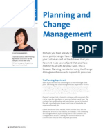 Planning and Change Management