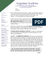 Summer Email Blast 8-15-2012
