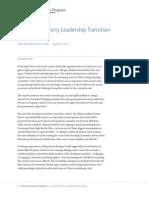 China's 2012 Party Leadership Transition
