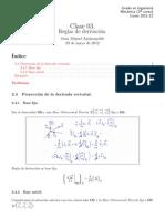 Clase 03 - Reglas de derivación.