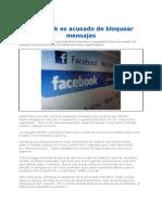Facebook Es Acusado de Bloquear Mensajes