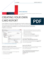 Creating Your Own Card Report