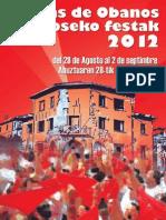 Fiestas de Obanos-eko Festak 2012