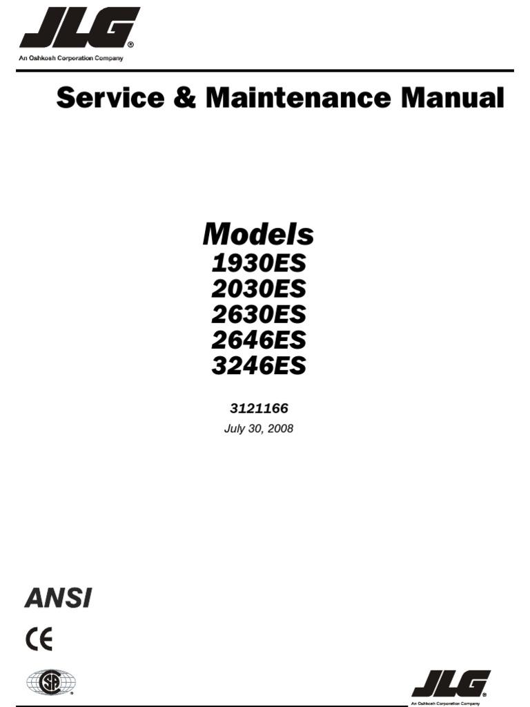1932 2032 2646 3246e2 parts jlg screw machines
