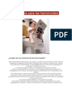 Hemorroides o Almorranas Consideraciones 2012