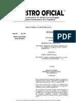 Reglamento Ley de Transito Ecuador 2012