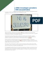 Investigan Paradero de 590 Secuestrados en Colombia