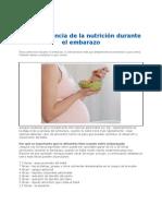 La Importancia de La Nutricion Durante El Embarazo 2012