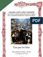 Folleto de la primera misa del P. Jose Manuel