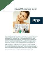 Los Beneficios Del Aloe Vera en La Piel