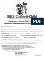 2012 Clothe-A-Child Application
