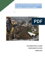 Informe Diseno de Alcantarillado Sanitario, San Andres Minas, La Union, Copan
