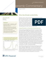 Weekly Economic  Commentary 8/13/2012
