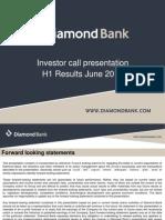 Diamond Bank - IR Presentation H1 2012 Results
