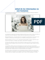 Mas Del 50 de Los Internautas No Son Humanos 2012