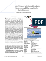 Development of Circularly Polarized Synthetic Aperture Radar Onboard Microsatellite for Earth Diagnosis