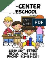 Preschool Handbook2012 2013
