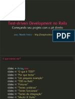 Tdd No Rails