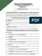 Acuerdo de Labor Parlamentaria