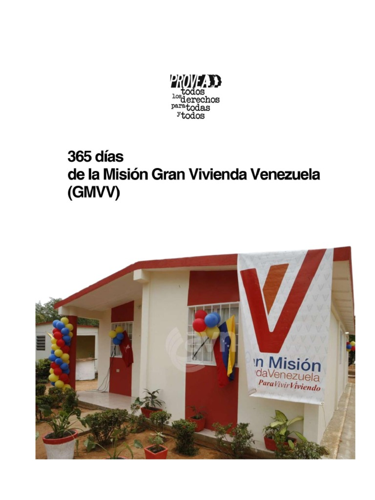 Informe diagnóstico de la Gran Misión Vivienda Venezuela