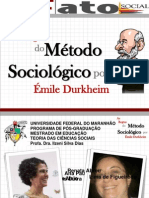As Regras do Método Sociológico de Durkheim