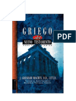 Griego Del Nuevo Testamento Para Principiantes- J Gresham Machen