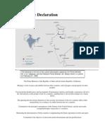 The Lahore Declaration 1999