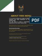 Indian Cavalry Club Final Menu 2011