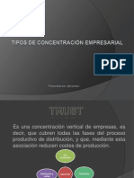 Tipos de Concentracion Empresarial