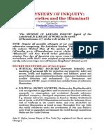Secret Societies and Illuminati